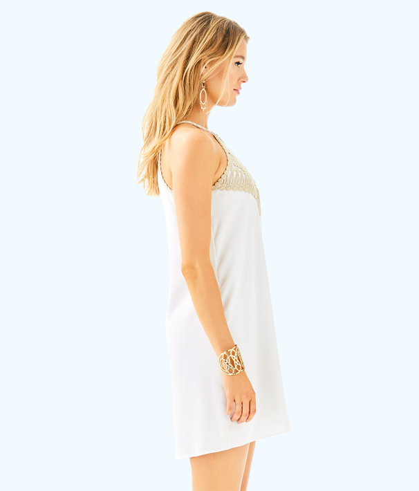 Pearl Soft Shift Dress, Resort White, large