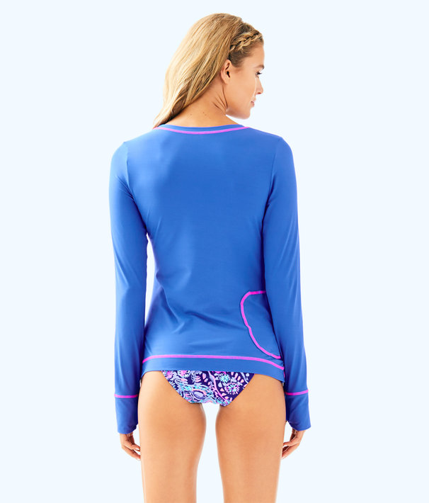 UPF 50+ Luxletic Renay Meryl Nylon Tee, Beckon Blue, large