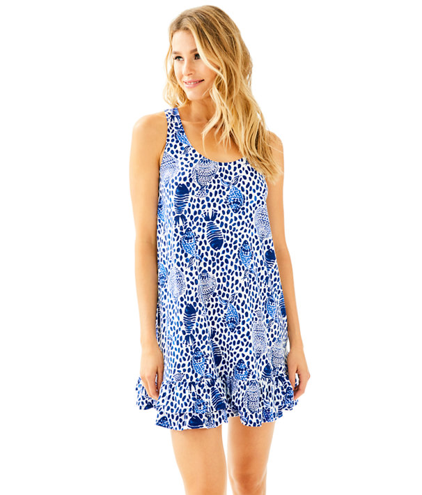 Evangelia Dress, High Tide Navy Heart And Sole, large