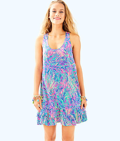 Evangelia Dress, Pink Sunset Coco Breeze, large