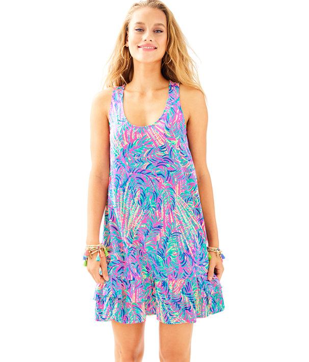Evangelia Dress, Pink Sunset Coco Breeze, large