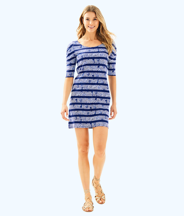Lajolla Dress, High Tide Navy Heart And Sole Stripe, large