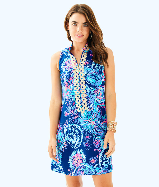 Jane Shift Dress, Deep Indigo Gypsea Girl, large