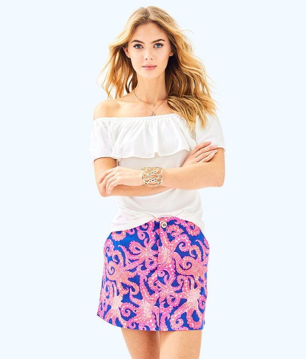 Nicki Skort, Ikat Blue Mocean Small, large