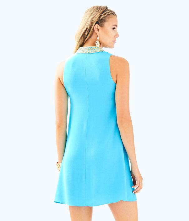 Jane Shift Dress, Blue Ibiza, large
