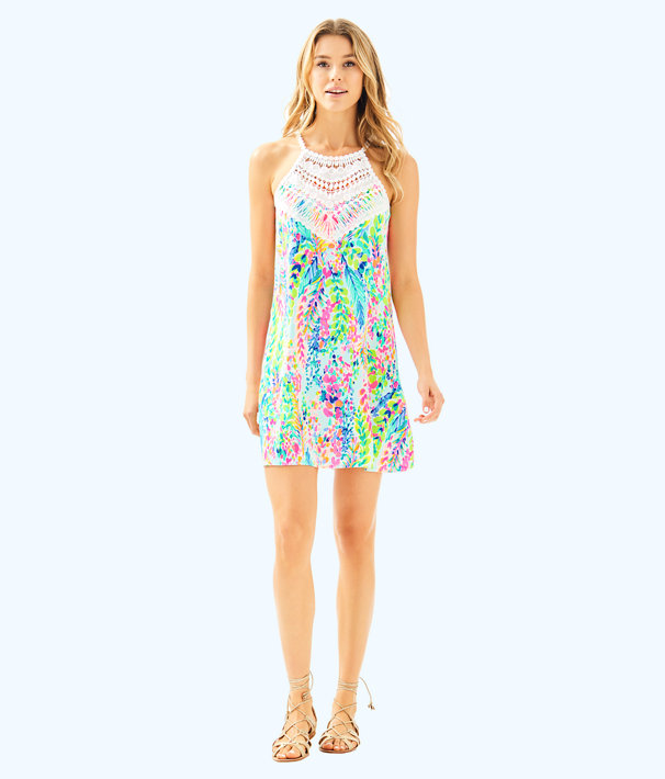 Pearl Soft Shift Dress, Multi Catch The Wave, large