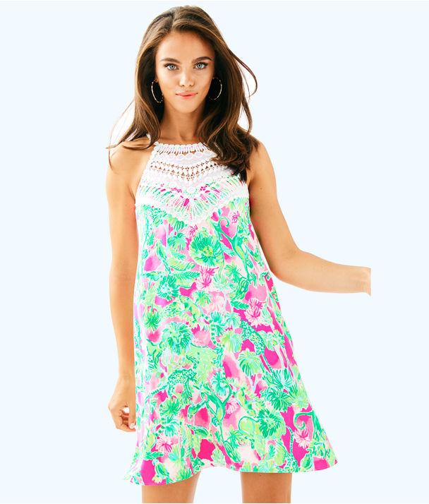 Pearl Soft Shift Dress, Raz Berry Catty Shack, large