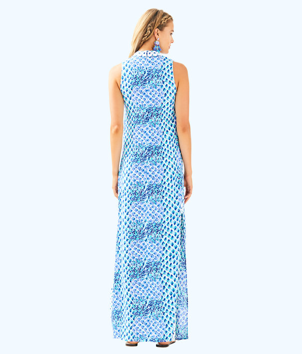 Jane Maxi Dress, Resort White Toe In Engineered Maxi, large