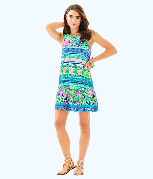 Gabriella Dress, Multi Daquiri Shack Engineered Dress, large