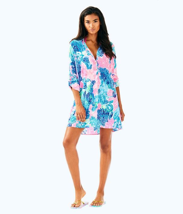 Lillith Tunic Dress, Multi Boho Batik, large