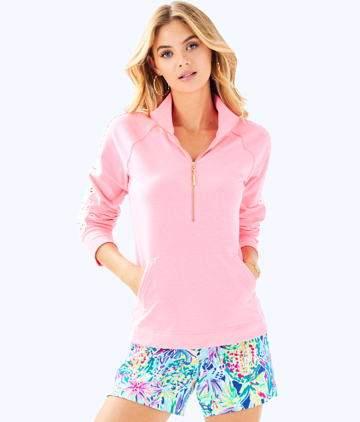 Lilly Pulitzer Lilly Pulitzer Womens Skipper Solid Popover