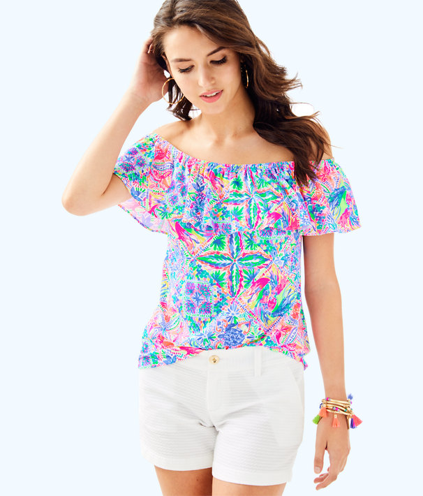 La Fortuna Top, Multi Dancing On The Deck Small, large
