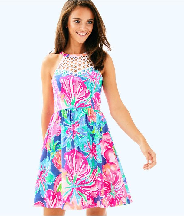 Kinley Dress, Beckon Blue Jungle Utopia, large