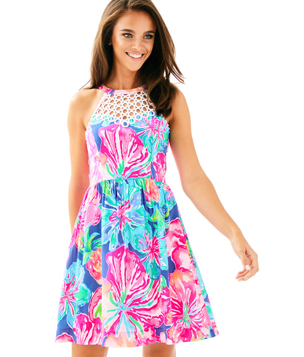 Kinley Dress, Beckon Blue Jungle Utopia, large