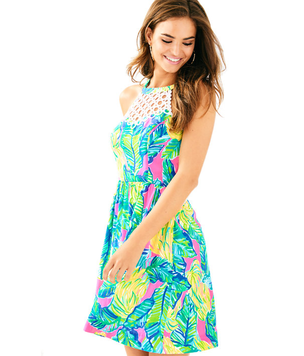 Kinley Dress, Pink Sunset Local Flavor, large