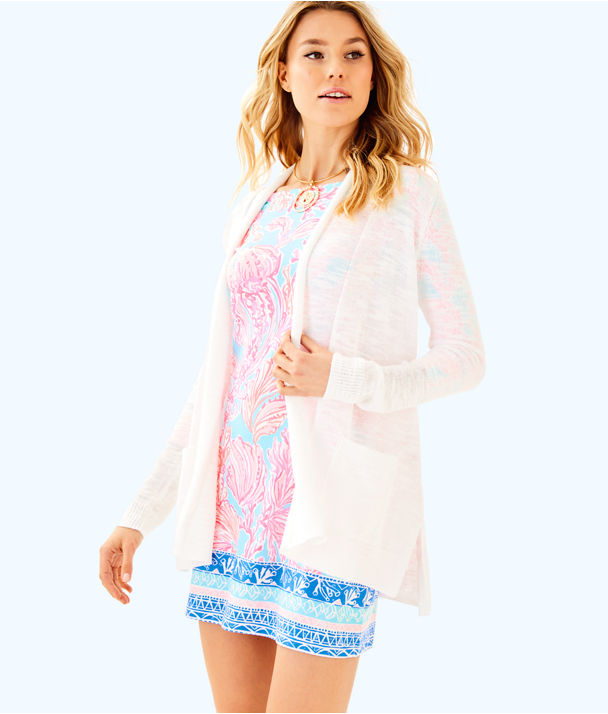Ariela Cardigan, Resort White, large