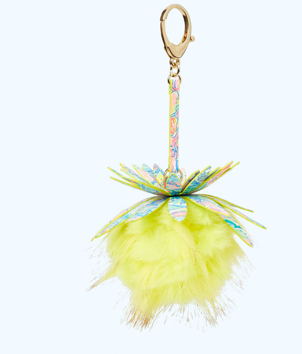 Pineapple Pom Pom Charm, Multi Surf Gypsea Small, large