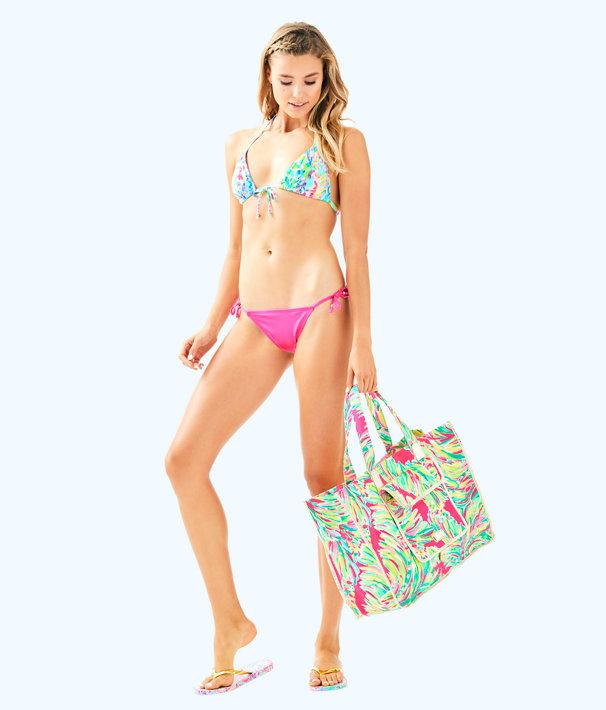 Tropic String Bikini Top, Multi Catch The Wave Swim, large