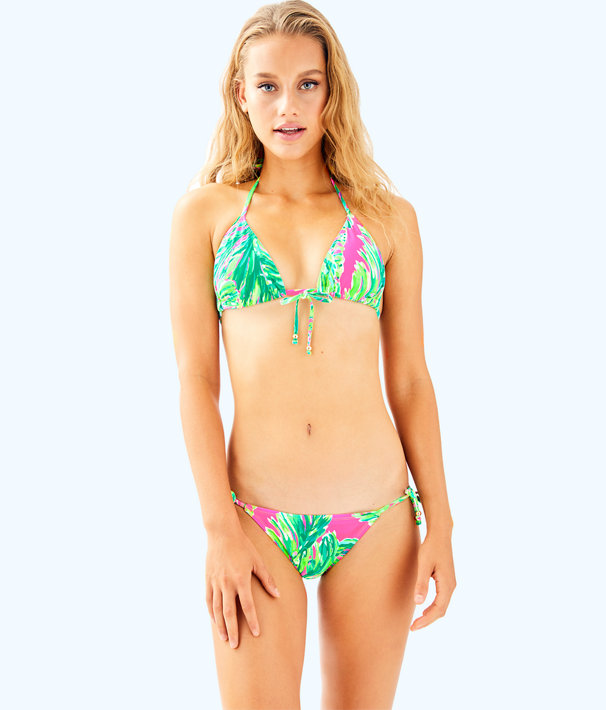 Tropic String Bikini Top, Multi Shady Lady Swim, large