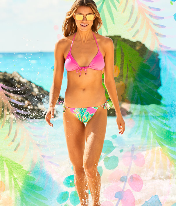 Tropic String Bikini Bottom, Multi Shady Lady Swim, large