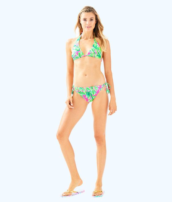 Guava Triangle Bikini Top, Multi Shady Lady Swim, large