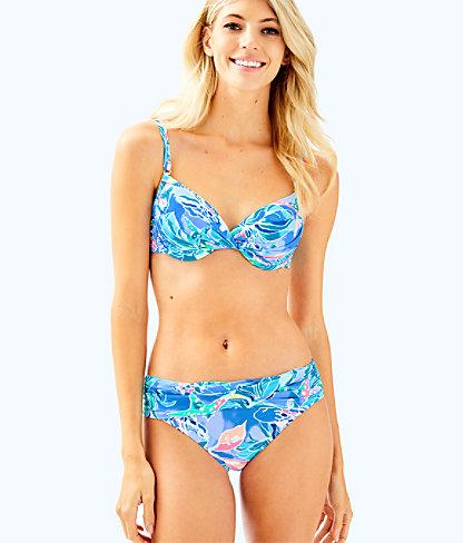 Blossom Underwire Bikini Top, Bennet Blue Celestial Seas, large