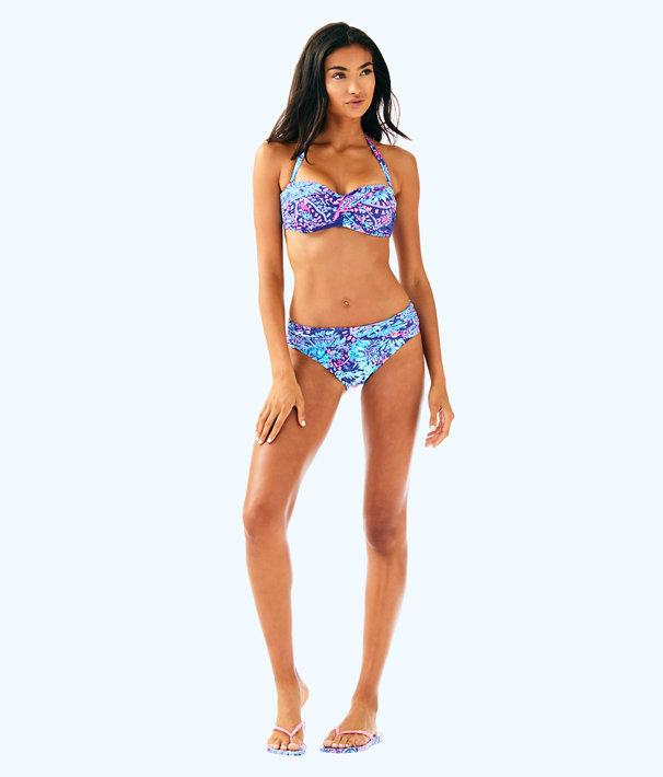 Cay Twist Bandeau Bikini Top, Twilight Blue Gypsea Girl Swim, large