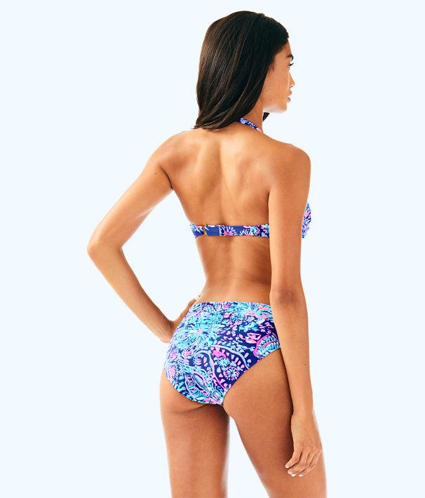 Lagoon Sarong Bikini Bottom, Twilight Blue Gypsea Girl Swim, large