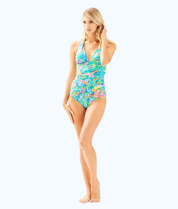 Bliss Halter Tankini Top, Bennet Blue Surf Gypsea Swim, large