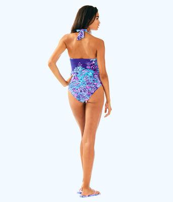Bliss Halter Tankini Top, Twilight Blue Gypsea Girl Swim, large