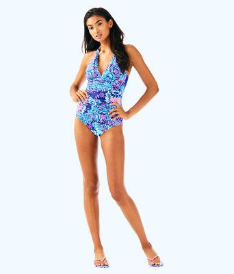 Bliss Halter Tankini Top, Twilight Blue Gypsea Girl Swim, large 2