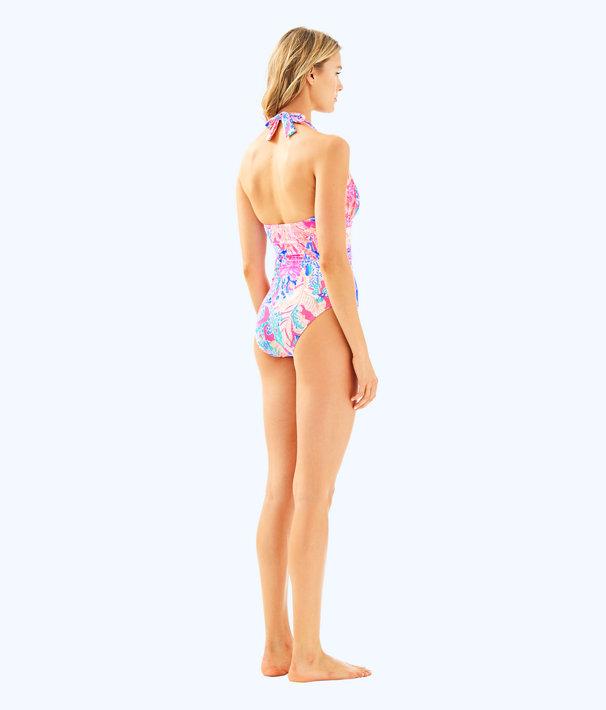 Lanai Halter One Piece Suit, Light Pascha Pink Aquadesiac, large