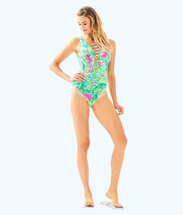 Isle Lattice One Piece Suit, Multi Shady Lady Swim, large
