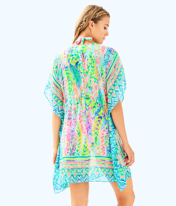 Gardenia Coverup, Multi Catch The Wave Engineered Swim Cover Up, large