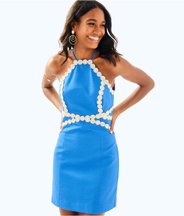 Pearl Shift Dress, Bennet Blue, large