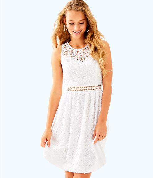 Alivia Dress, Resort White Sea Spray Eyelet, large