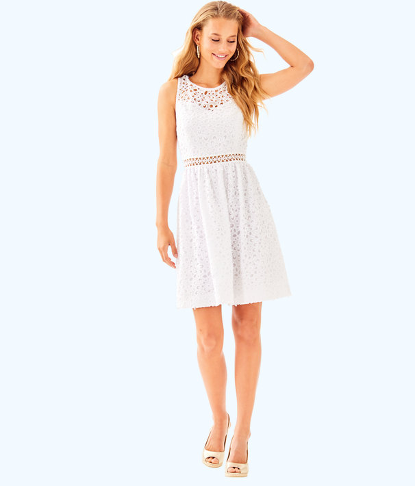 Alivia Dress, Resort White Sea Spray Eyelet, large