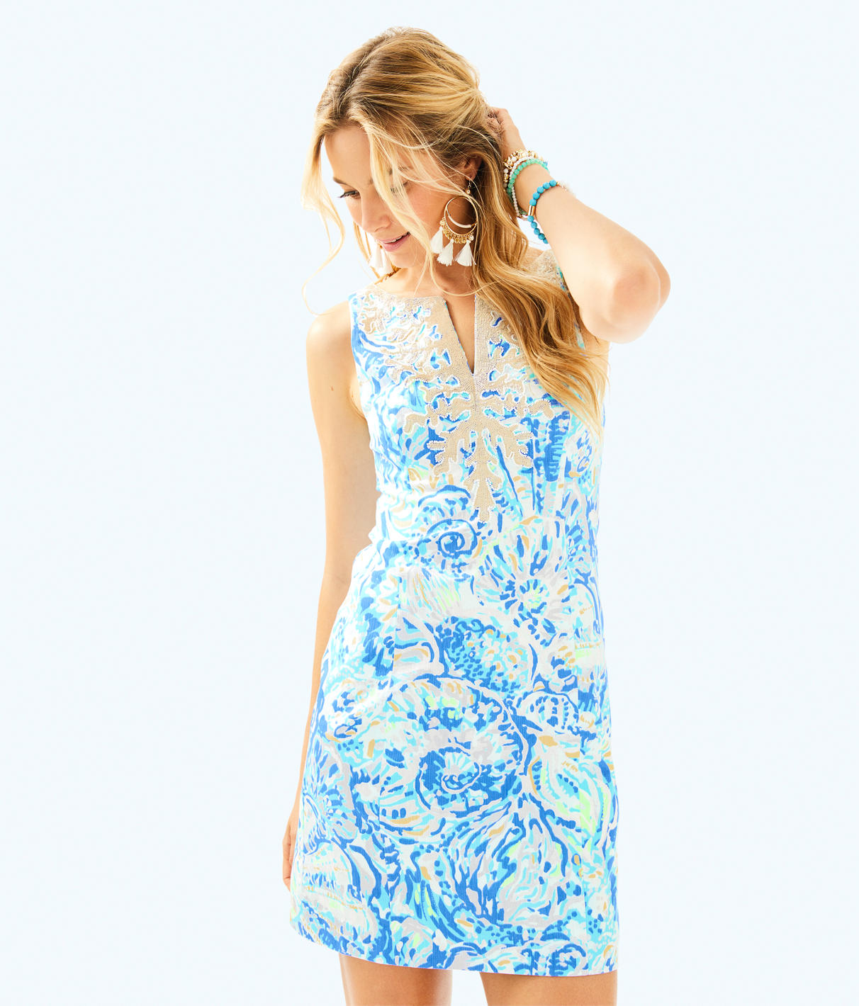 Gabby Shift, Multi Gumbo Limbo Engineered in Bennet Blue Salty Seas from Lilly Pulitzer