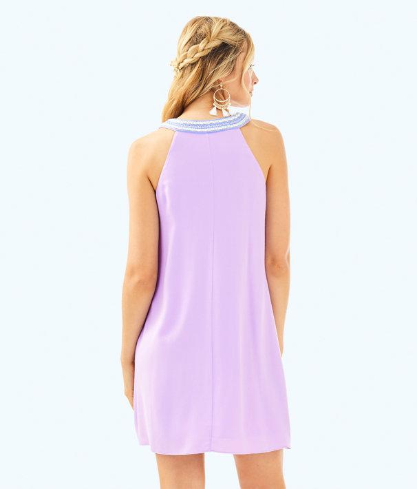 Valli Soft Shift Dress, Light Lilac Verbena, large
