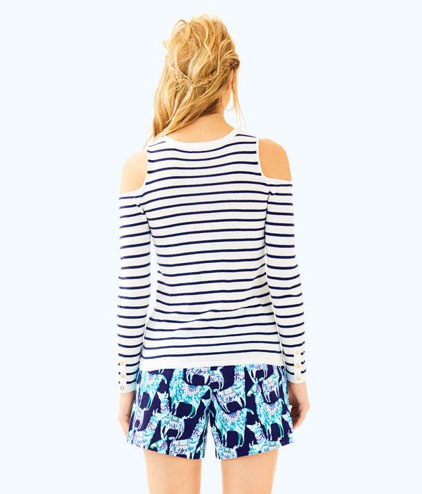 Lyon Sweater, Bright Navy Mystic Stripe, large