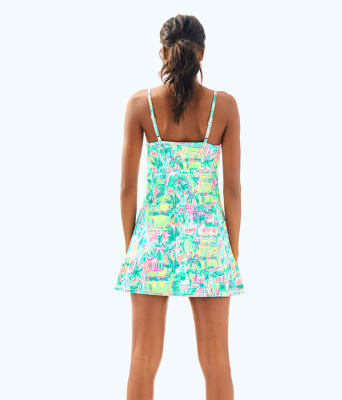 UPF 50+ Meryl Nylon Luxletic Adelia Tennis Dress, Multi Perfect Match, large