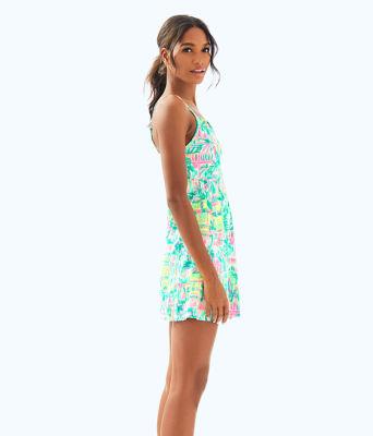 UPF 50+ Meryl Nylon Luxletic Adelia Tennis Dress, Multi Perfect Match, large 2