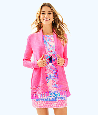 Juliette Cardigan, Pink Sunset, large
