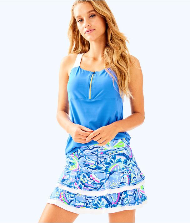 UPF 50+ Luxletic Meryl Nylon Zela Skort, Blue Peri Pinch Pinch, large