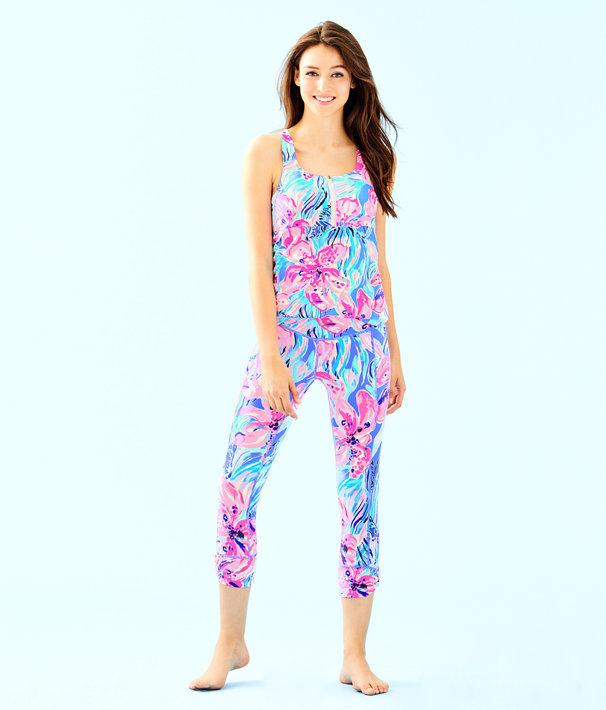 "UPF 50+ Luxletic 21"" Fara Weekender Crop Legging, Bennet Blue Hypes And Stripes, large"