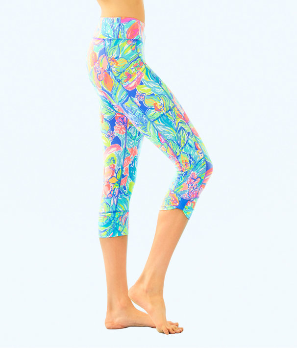 "UPF 50+ Luxletic 21"" Fara Weekender Crop Legging, Bennet Blue Surf Gypsea Swim, large"
