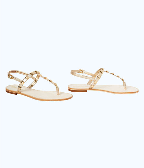 Rita Sandal, Gold Metallic, large