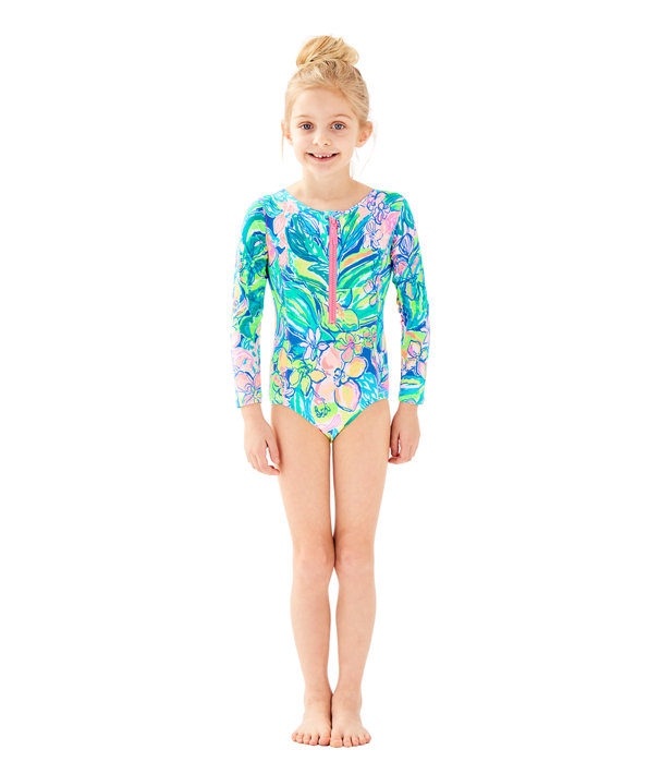 UPF 50+ Girls Alaina Swimsuit, , large