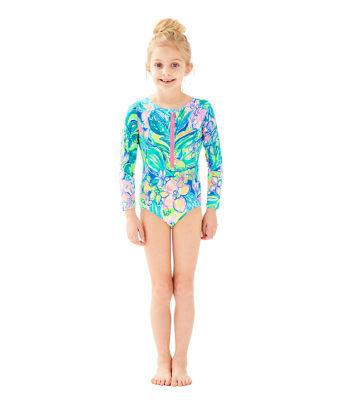 UPF 50+ Girls Alaina Swimsuit, Bennet Blue Surf Gypsea Swim, large