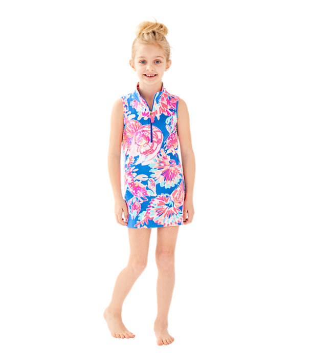 Girls Mini Sleeveless Skipper Shift Dress, , large